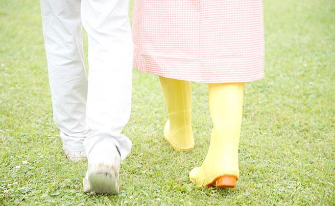 デートに長靴で来た女性