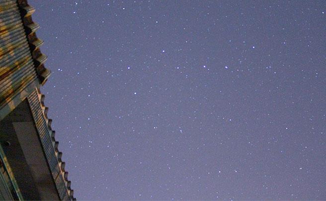 天体観測とと屋根