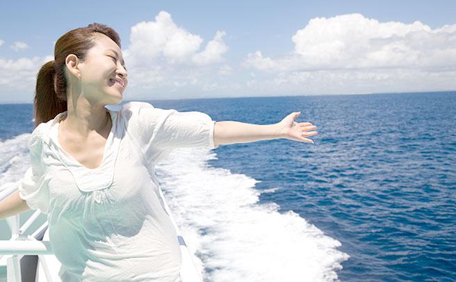 ボートで恐怖心を解消した女性