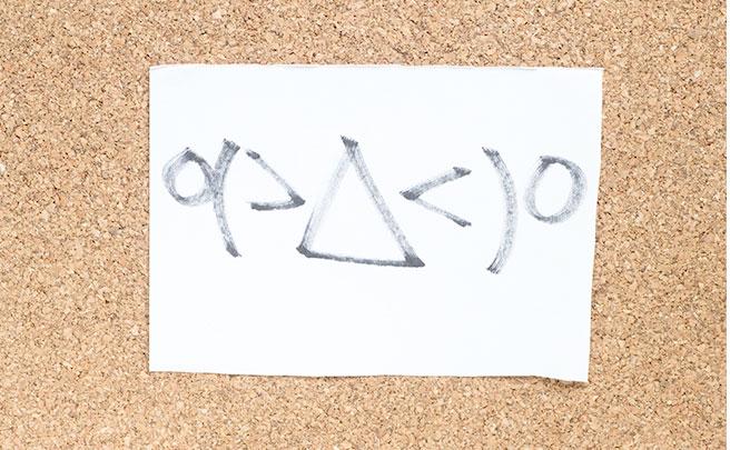 掲示板に貼った怒りの絵文字