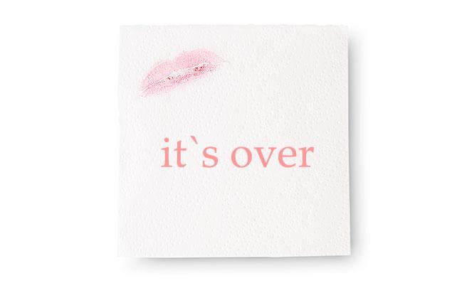 女性からの「it's over」というメッセージ