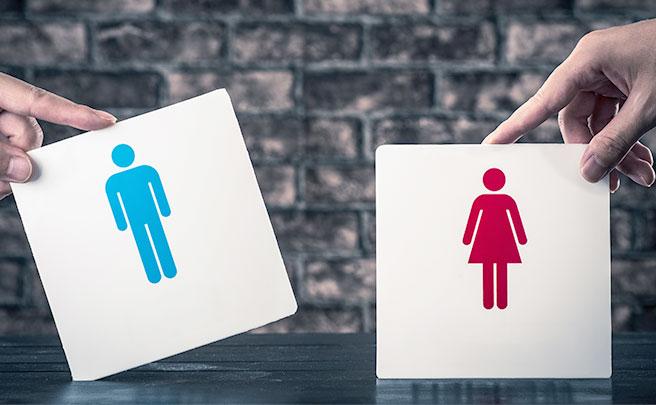 男と女のトイレのサイン