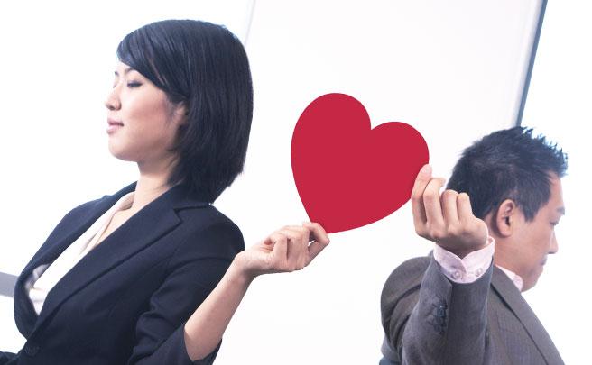 職場恋愛中の男女