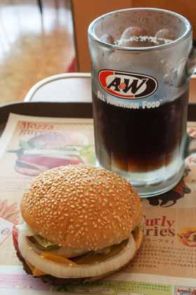 ハンバーガーショップ「A&W」