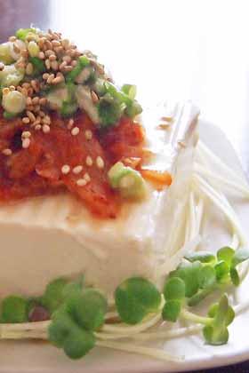 ねぎ塩キムチ豆腐