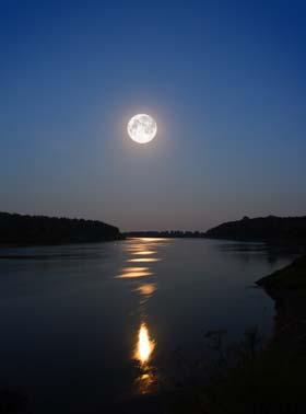 水面に満月ってロマンチックすぎます☆