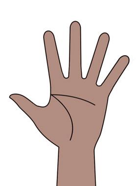 黒っぽい手