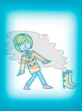 通気性の悪いブーツは雑菌の温床