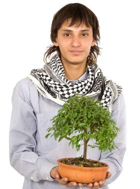 観葉植物男子