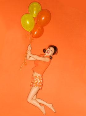 オレンジの服