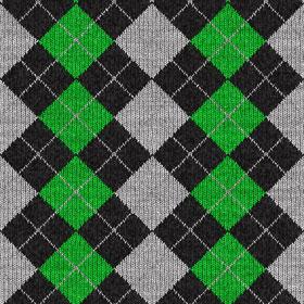 緑のアーガイル柄