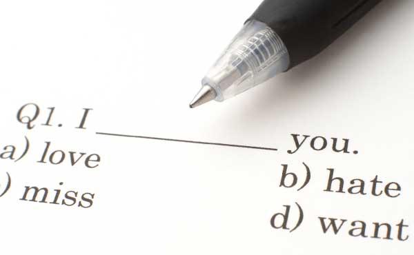 英語の問題用紙
