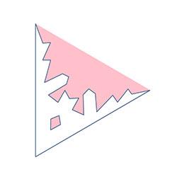 枝付角板の型紙