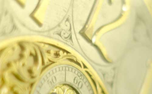 アンティークな置き時計