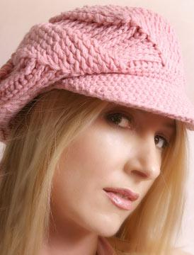 ベレーのニット帽
