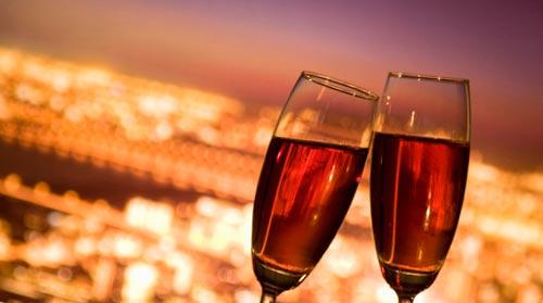 ワインと夜景