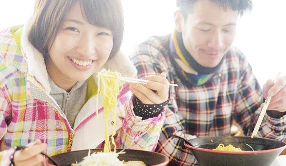 スキー場で食事